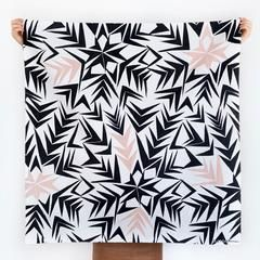 Furoshiki Wrapping Cloth - LINK x Leah Duncan {Angles} - Black x Pink (heavier cotton)