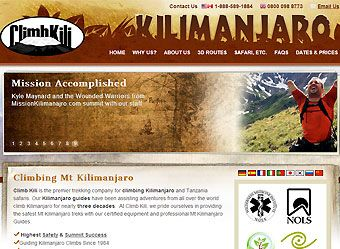 Subpage #Design, Homepage Design &   #Wordpress #CMS Development for http://www.climbkili.com/