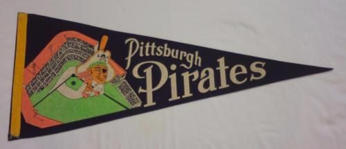 1950-60-039-s-Pittsburgh-Pirates-Pennant-w-Buc-and-Forbes-Field