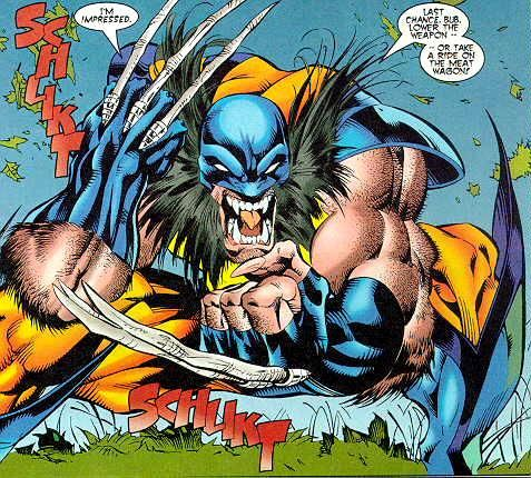 Wolverine with bone claws. When Magneto ripped the Adamantium off of Wolverine's skeleton in X-Men #25 (1993), it was revealed the next month, in Wolverine #75 (1993) that Wolverine, in fact, had bone claws, and that the claws must have been a part of his mutation, all along. Previously, Logan was under the belief that the claws had been added by the Weapon X Project, as he had no memory of ever using them before his time in the Weapon X project.