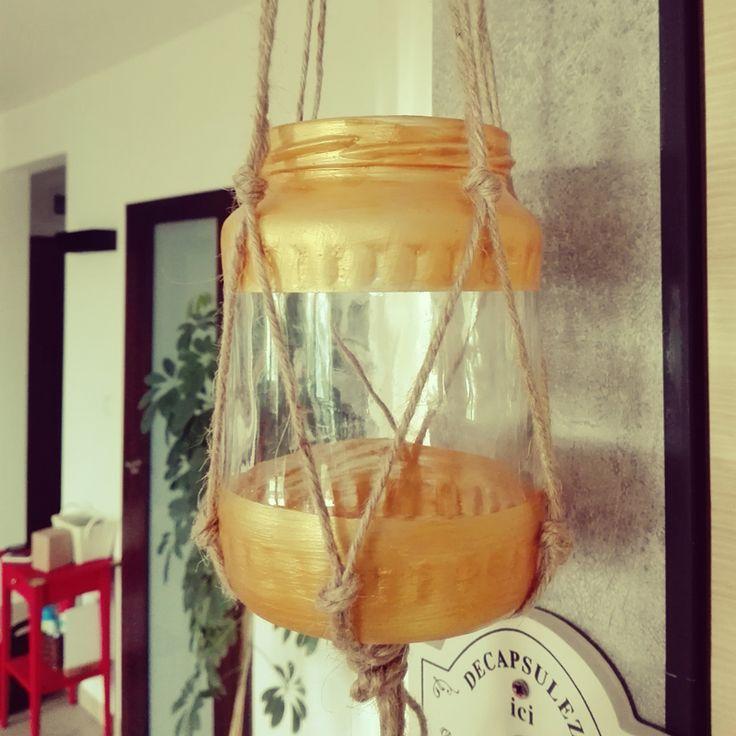 jar candlestick diy