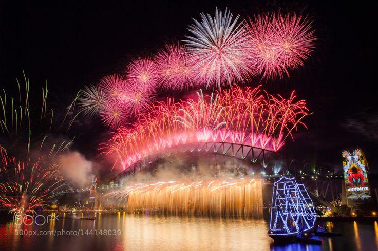 Popular on 500px : Firework Sydney New Years Eve 2016 by SingGao
