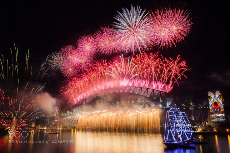 Popular on 500px : Firework Sydney New Years Eve 2016 by SingGao