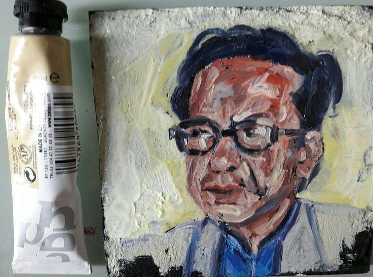oil painting  2017 10x10 Besnik Lushtaku
