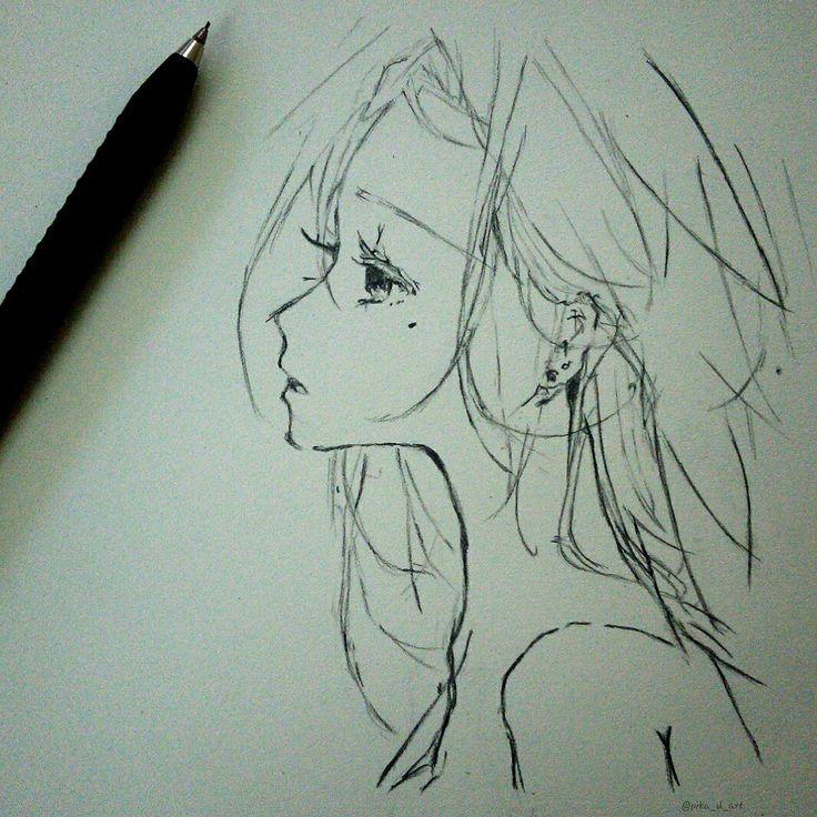 anime manga girl sketch