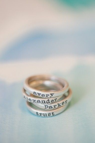 A Touch of Love - Customize your Stacking Rings with a Special Name, Buy Now !