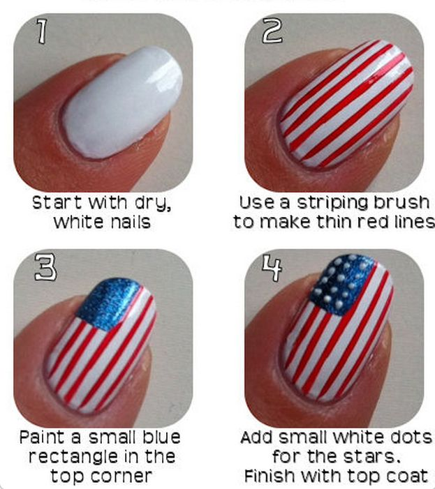 4th of July Nails: A Little Red, White and Blue For Your Fingers