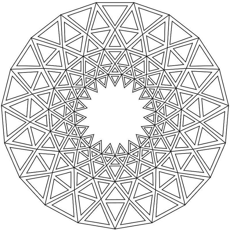 The 25 best geometric mandala ideas on pinterest for Geometric mandala coloring pages