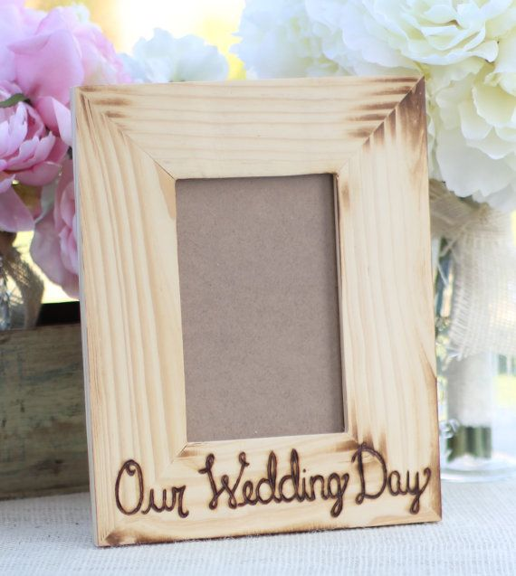 Personalized Wedding Frame Engraved Wood Rustic Chic Home