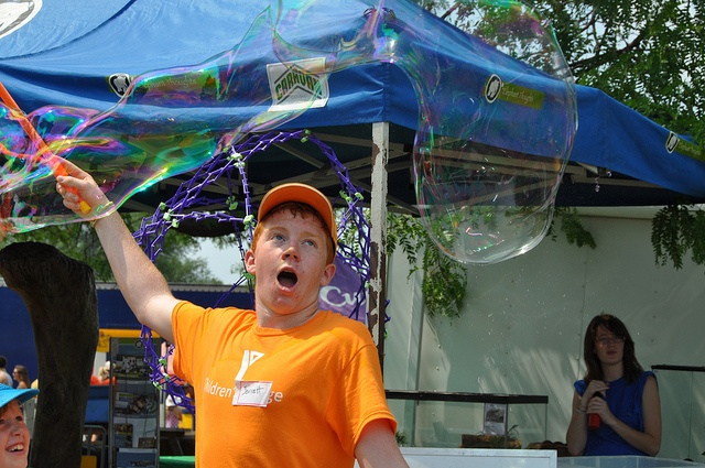 Giant bubbles at The YMCA Children's Village at Kempenfest