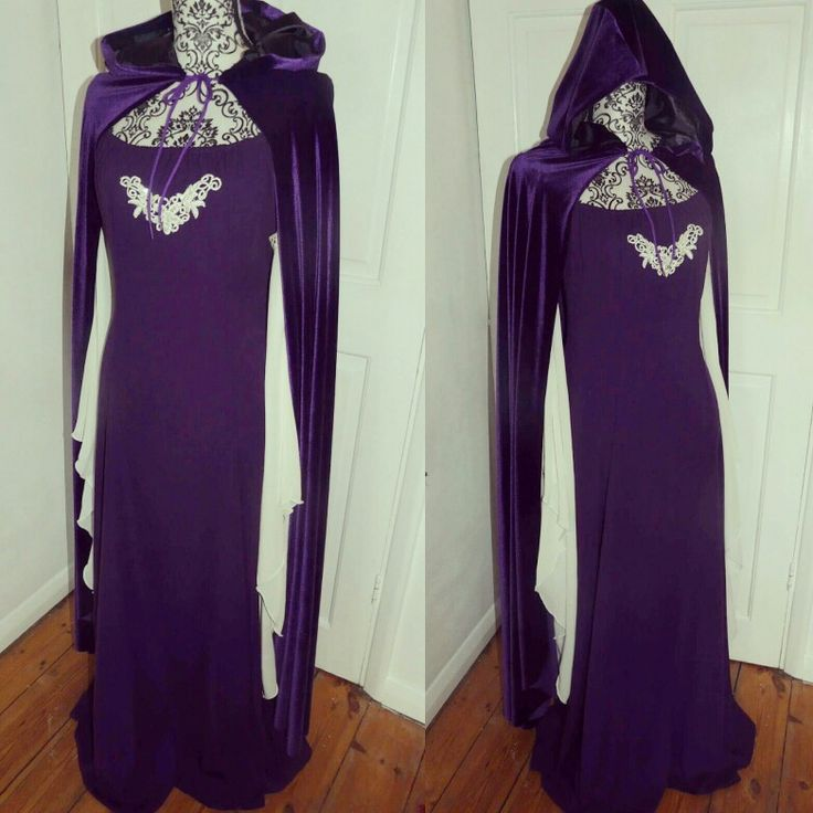 Custom made Ophelia dress in purple variation with hooded velvet cloak. Custom requests available from my shop:  https://www.etsy.com/uk/shop/SuperstitchiousCo?ref=hdr
