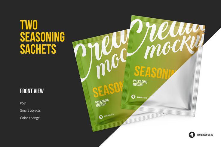 Sachet Big Pack 7 In 1 Packaging Mockup Mockup Sachet