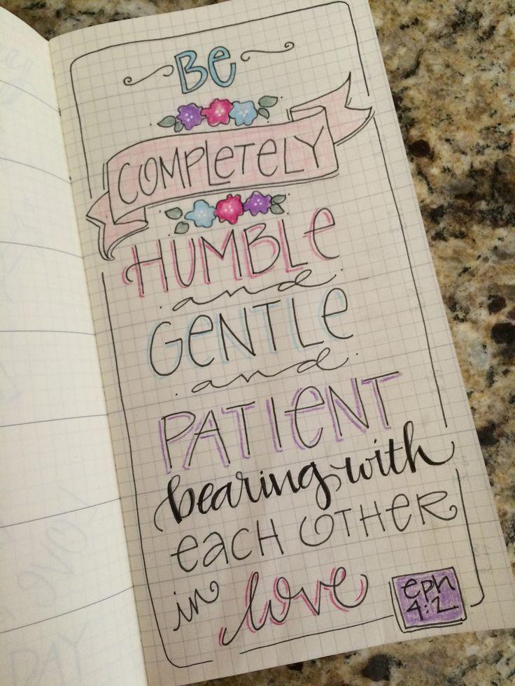 Eph 4:2 - Bible Journaling by Nola Chandler