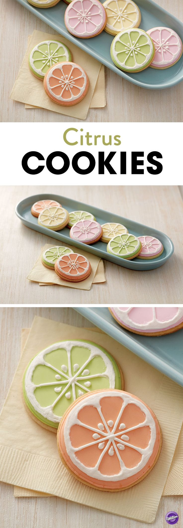 Learn how to make these cool citrus cookies that are perfect treats to serve at your spring or summer gatherings.
