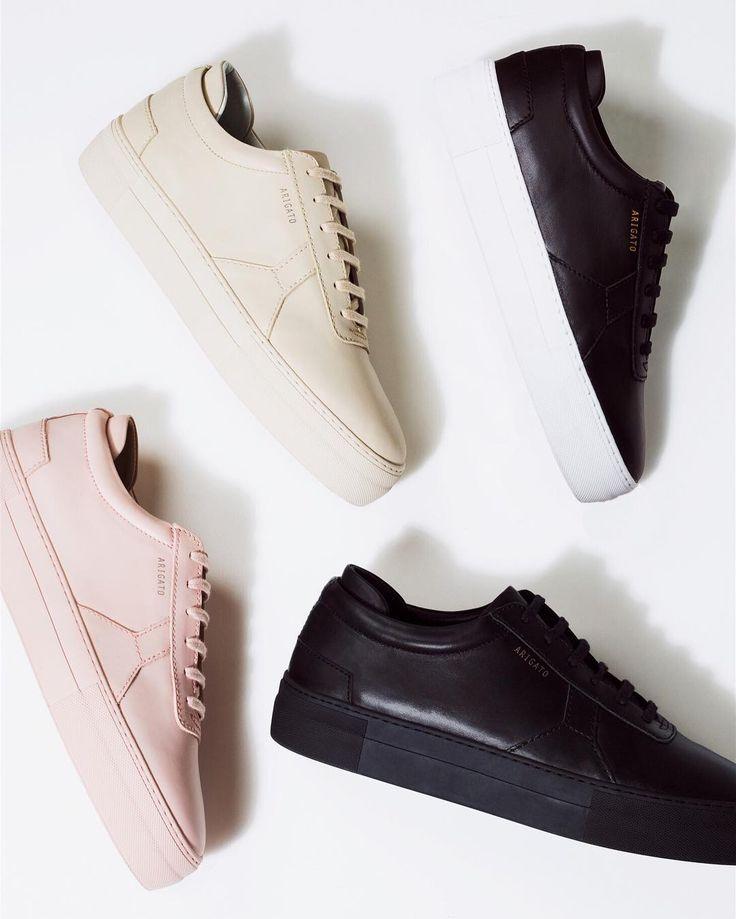 Axel Arigato Platform Sneakers | www.axelarigato.com | #axelarigato #shoes #leather #monocrome