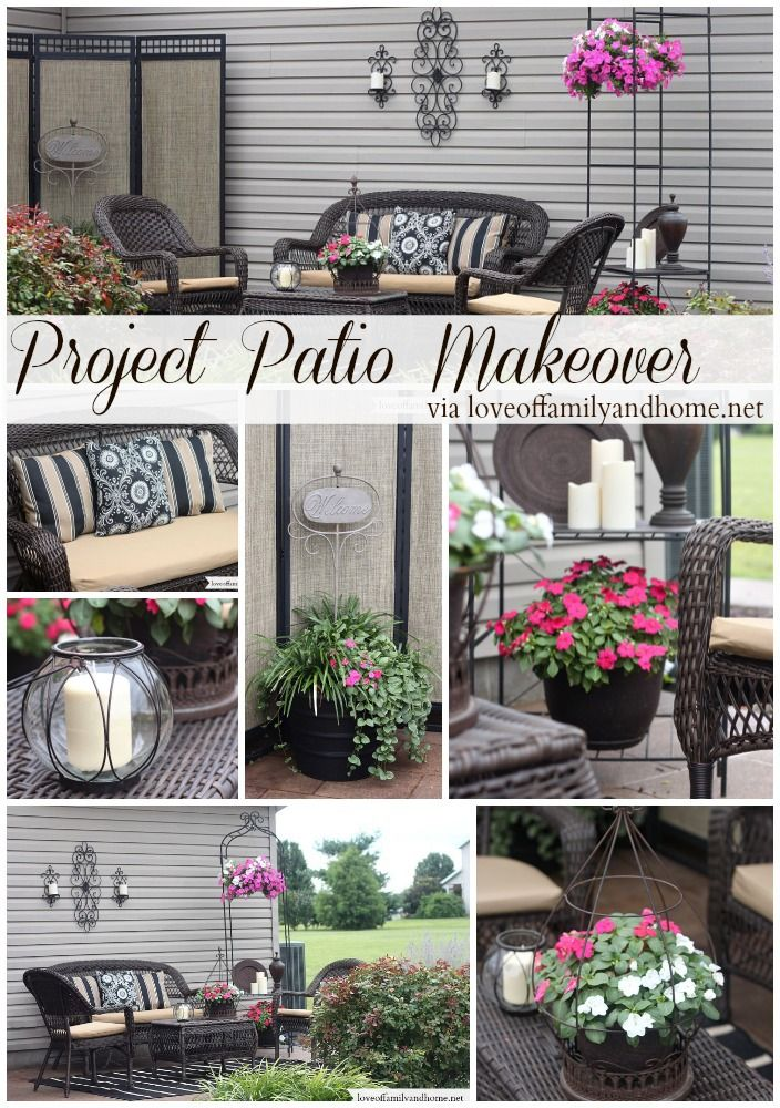 Patio Makeover + stained concrete @Tonya @ Love of Family & Home