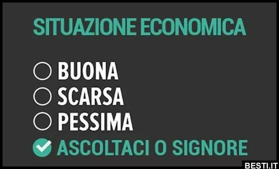 Situazione economica | BESTI.it - immagini divertenti, foto, barzellette, video