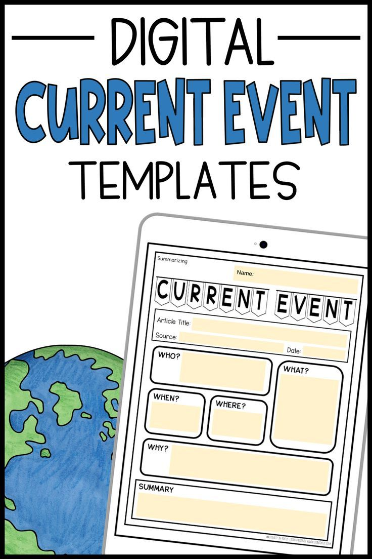 Current Events Templates Worksheets Assignments Distance Learning Reading Comprehension Skills Current Events Current Events Worksheet