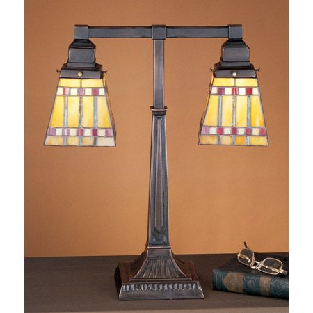 Tiffany mission craftsman table lamp.
