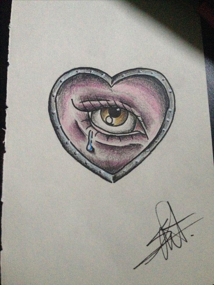 neotraditional heart eye
