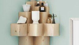 L'étagère 3 D en blocs de bois