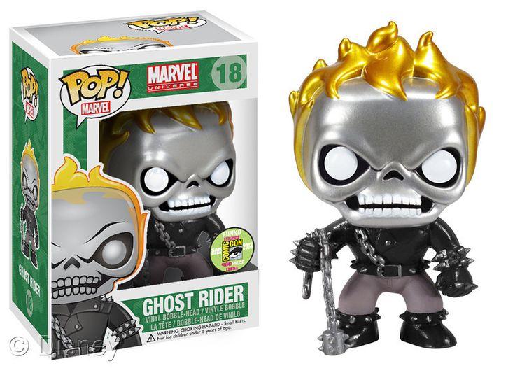 Metallic Ghost Rider POP Bobblehead, limited edition, $15.00