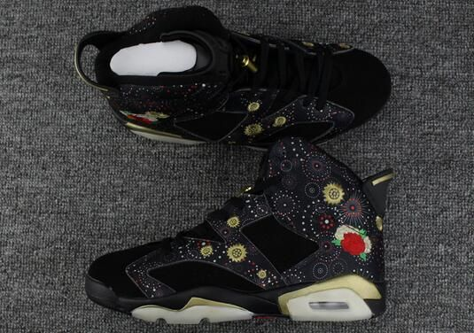 "32e2498593a38b 2018 Air Jordan 6 CNY ""Chinese New Year"" Black Multi-Color-Metallic ..."
