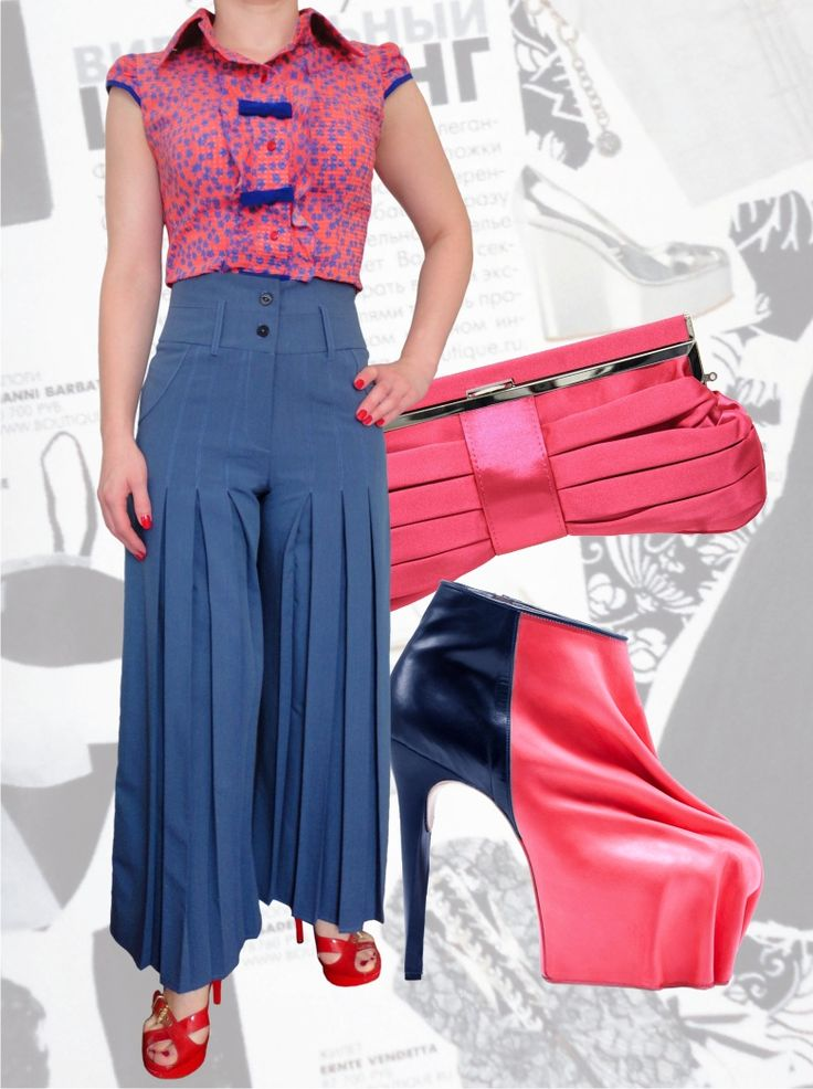 90$ Брючный костюм для полных девушек : классические брюки с завышенной талией со складками и прямые от бедра + блузка в мелкий цветочек в полный рост Артикул 552, р50-64 Женские костюмы большие размеры  Женские костюмы деловые большие размеры  Женские костюмы с брюками большие размеры  Летний брючный костюм большие размеры  Нарядные женские брючные костюмы большие размеры