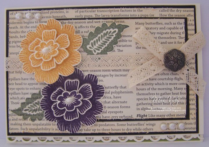 Stampin up 174 array of sunshine