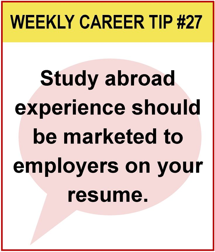 7 best Did you Study Abroad? How to promote your resume\/interviews - study abroad resume