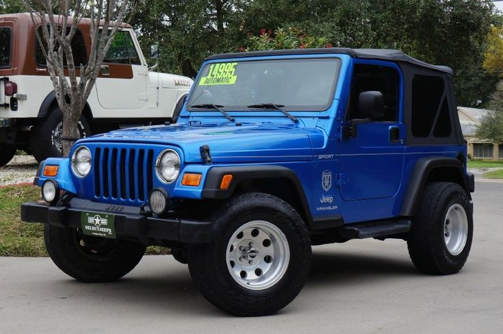 """2003 Rare """"Intense Blue"""" Jeep Wrangler Sport - -$14,995 - Automatic, New Soft Top, Alloy Wheels, 4.0L Straight Six Cylinder! Extra Pics ---> http://www.selectjeeps.com/inventory/view/8787769/2003-Jeep-Wrangler-2dr-Sport-League-City-TX"""