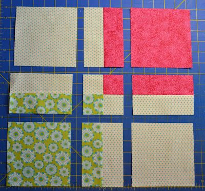 Chock-A-Block Quilt Blocks: Disappearing 4-Patch - nice tutorial: could maybe use as a scrappy quilt