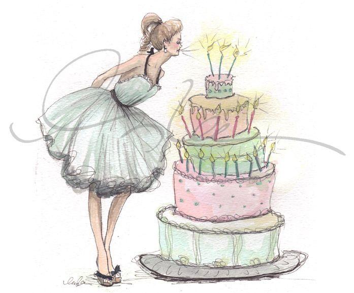 Birthday Wishes, Art   Let them eat cake