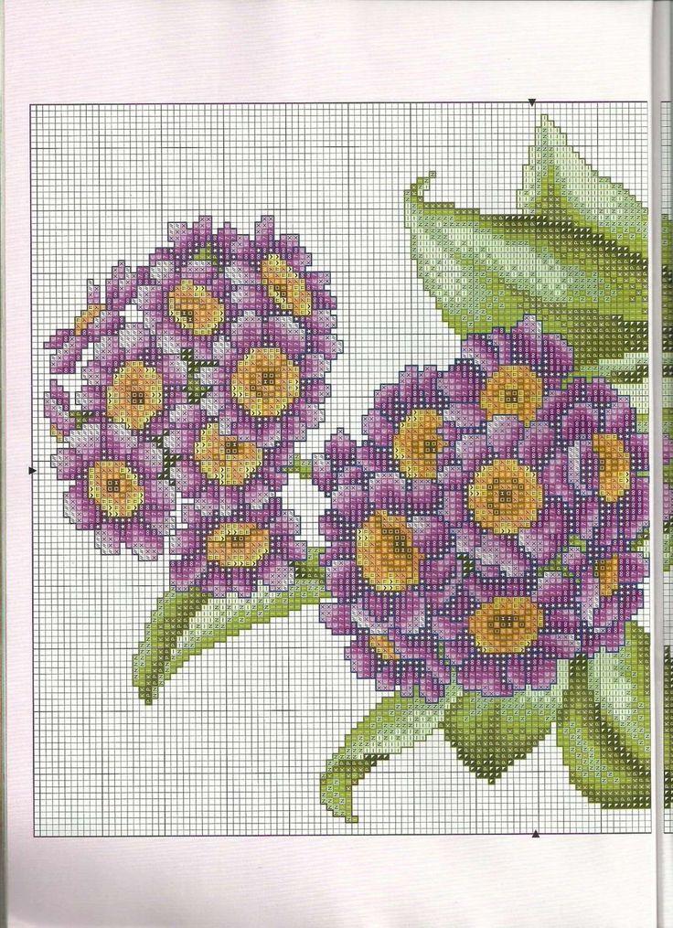 Мобильный LiveInternet Яркие цветы. Вышивка крестом, схемы | стежочек - Дневник стежочек |
