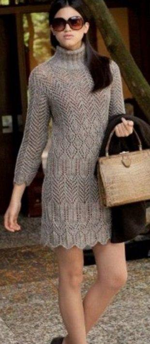 Схемы платья спицами