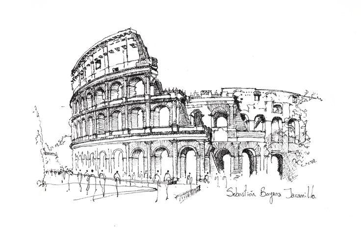 O croqui como método essencial de representação,Coliseu / Roma. Imagem © Sebastián Bayona Jaramillo