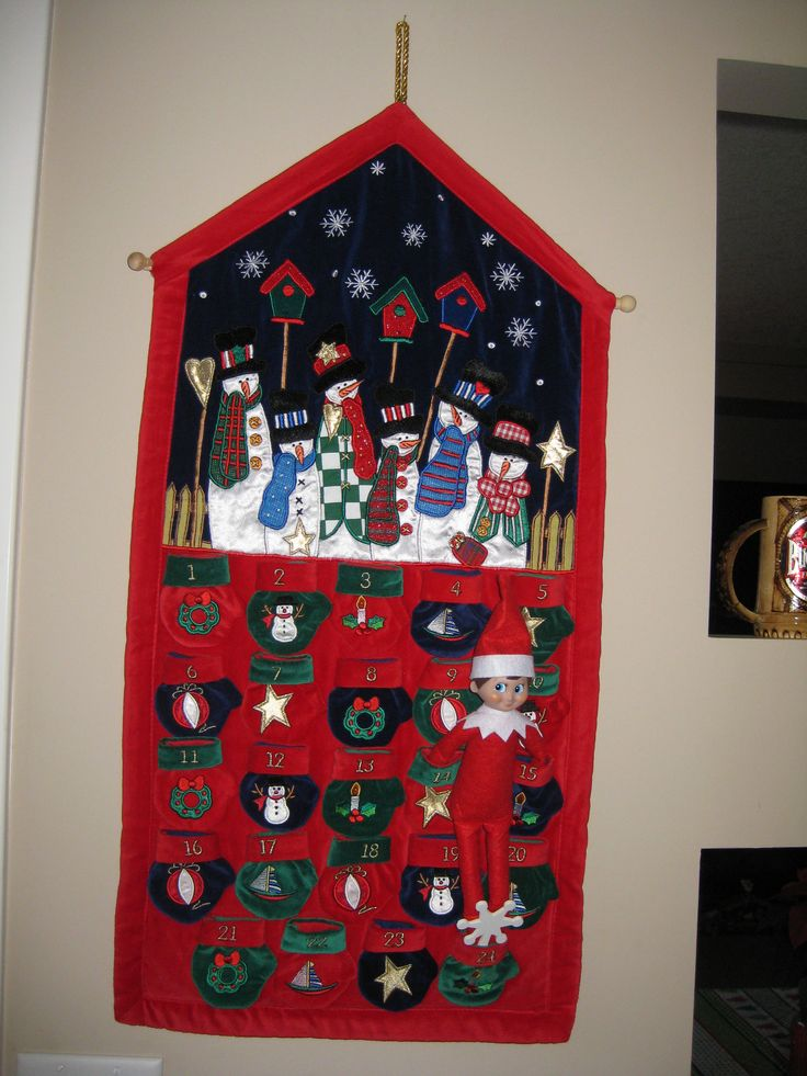 December 24, 2014 ~ Sparky changed our advent calendar for us...Tonight he leaves with Santa!