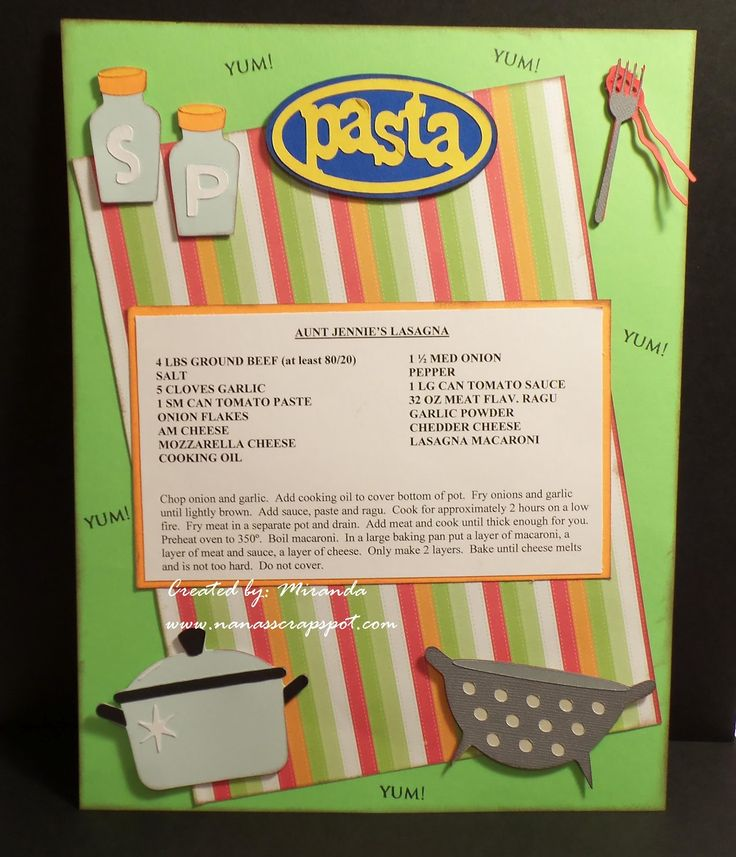 recipe cards using the from my kitchen cartridge | used From My Kitchen Cricut Cartridge..... I am working on a recipe ...