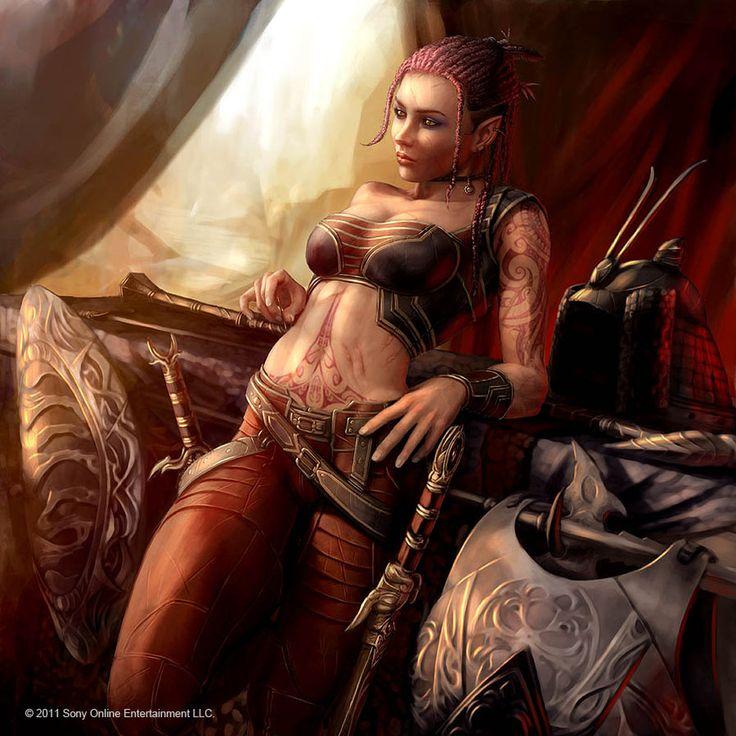 human female rogue thief fantasy portrait