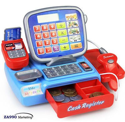 Toy Cash Register Checkout Machine Scanner Shopping Play Great Gift For Child