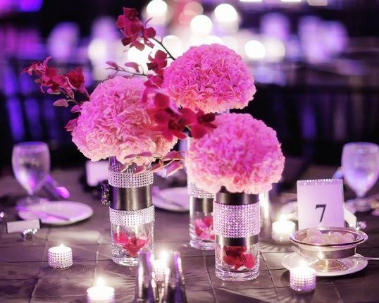 Elegant pomander centerpieces cylinder vases