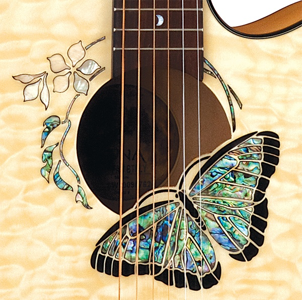 Luna Guitars' Butterfly Rosette - acoustic electric guitar