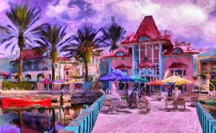 Caribbean Beach Resort Digital Art by Caito Junqueira