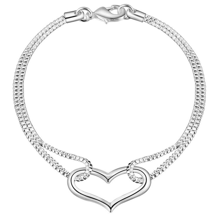 Aliexpress.com : Buy love heart simple Wholesale silver plating bracelet, Silver plated fashion jewelry /GLOCHAZJ NDBRRTBK from Reliable jewelry box birthday cake suppliers on yinfen guo's store