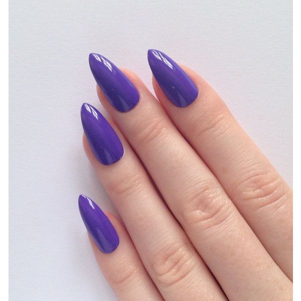 Purple Stiletto nails, Nail designs, Nail art, Nails, Stiletto nails,... ($17) ❤ liked on Polyvore