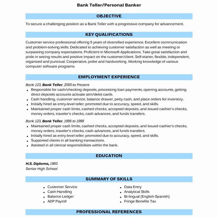 Bank Teller Job Description for Resume Fresh 14 Resume How