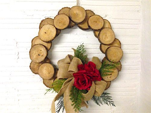 Watch the video and learn how to use rustic wood for a year-around decorative wreath for your home.