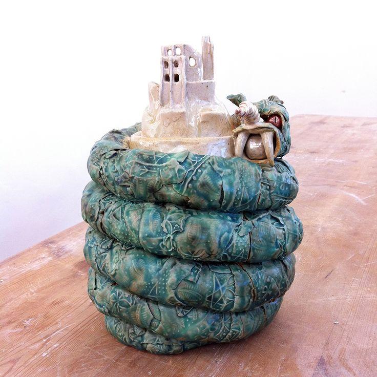 Elouisa's Corfe Castle Earth Dragon Ginger Jar