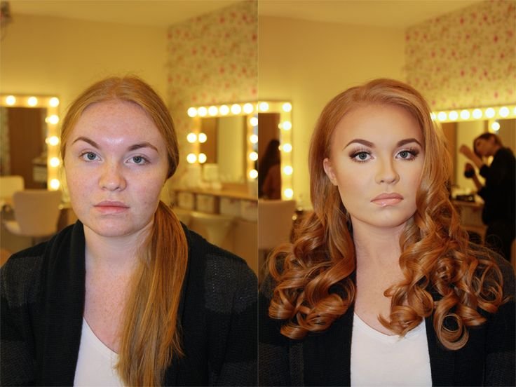 Before and after.  This is why makeup and doing your hair matters to us women.