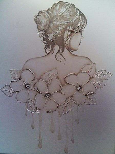 T T lady back floral